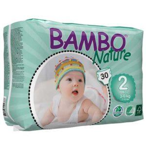 پوشک بچه بامبو سایز 2 بسته 30 عددی