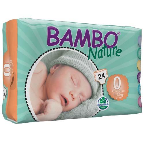 پوشک بچه بامبو سایزصفر بسته 24 عددی