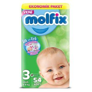پوشک بچه مولفیکس سایز ۳ (Molfix Size 3 Diape ) در سایت ناجی طب