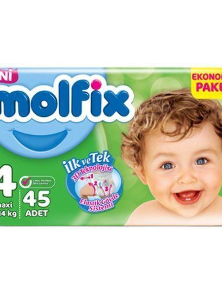 پوشک بچه مولفیکس سایز ۴ (Molfix Size 4 Diape ) در سایت ناجی طب