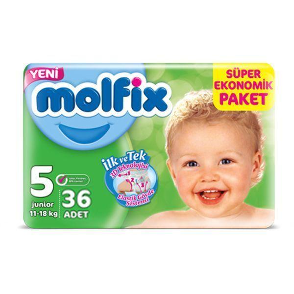 پوشک بچه مولفیکس سایز ۵ (Molfix Size ۵ Diape ) در سایت ناجی طب