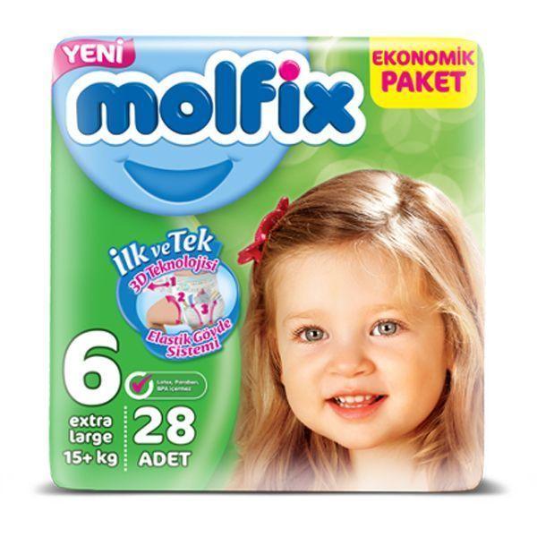 پوشک بچه مولفیکس سایز ۶ (Molfix Size 6 Diape ) در سایت ناجی طب
