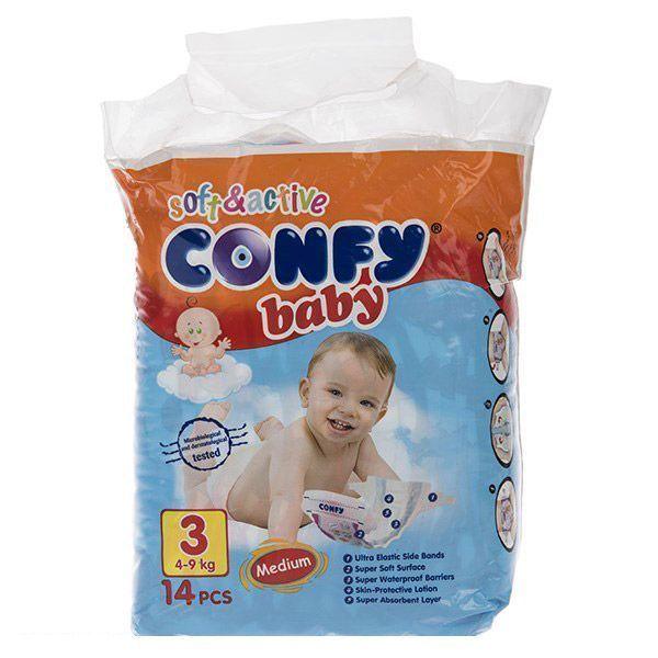 پوشک کانفی سایز ۳(Confy) در سایت ناجی طب فروشگاه ناجی طب