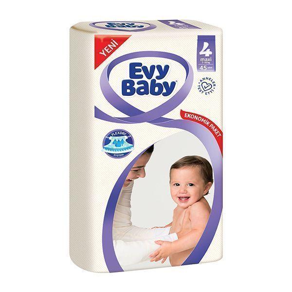 پوشک اوی بیبی سایز ۴(Evy Baby) در سایت ناجی طب فروشگاه ناجی طب
