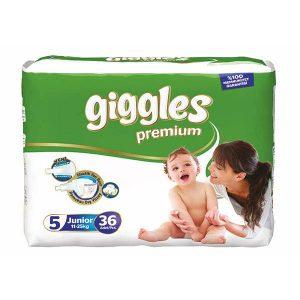 پوشک گیگلز سایز ۵(giggles) خرید بهترین مارک پوشک بچه ضد حساسیت