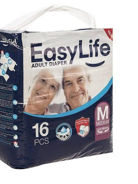 پوشک بزرگسال ایزی لایف مدل Medium - پوشینه بی اختیاری - فروشگاه ناجی طب